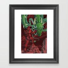 The Dragon on Mars Framed Art Print