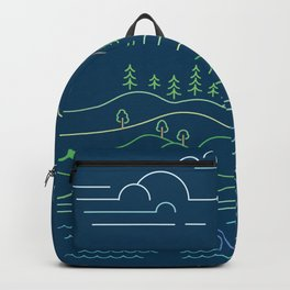 Outdoor solitude - line art Backpack