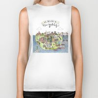 new york city Biker Tanks featuring New York City Love by Brooke Weeber