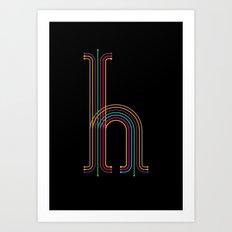 H like H Art Print