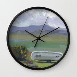 AIRSTREAM, Montana Travel Sketch by Frank-Joseph Wall Clock
