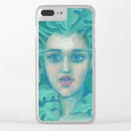 Green Lady / Forest Queen Clear iPhone Case