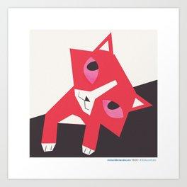 #30daysofcats 19/30 Art Print