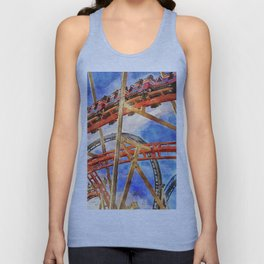 Fun on the roller coaster, close up Unisex Tank Top