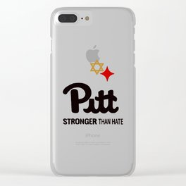 Pitt Stronger than hate Clear iPhone Case