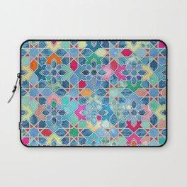 Pretty Pastel Moroccan Tile Mosaic Pattern Laptop Sleeve