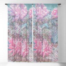 Coral Reef Underwater Backdrop Sheer Curtain
