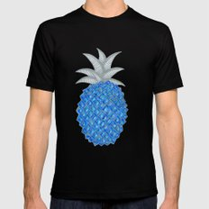 Pineapples are blue now Mens Fitted Tee Black MEDIUM