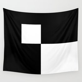 Black and White Color Block #2 Wall Tapestry