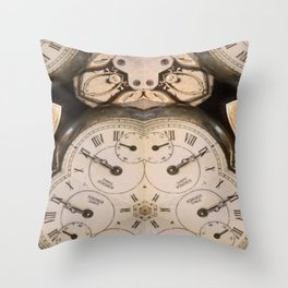 Tic Toc Throw Pillow