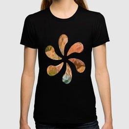 Salmon Mosaic Abstract Art T-shirt