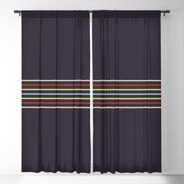 Multicolor Fine Lines Blackout Curtain