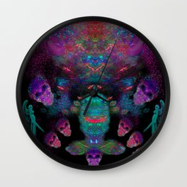 Alien Spirits Beyond Death Wall Clock