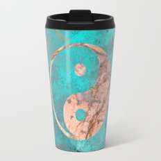 Yin Yang - Rose Turquoise Marble Travel Mug