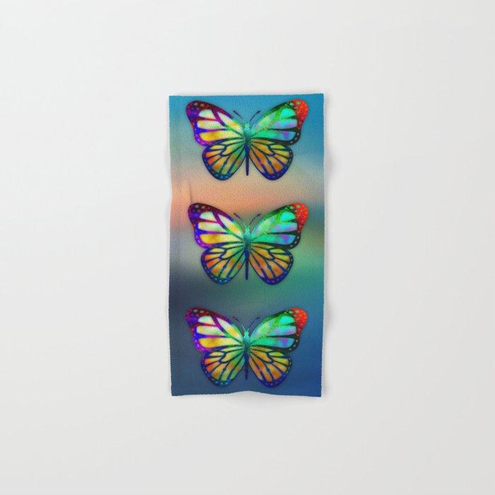 Vivid Butterfly Hand & Bath Towel