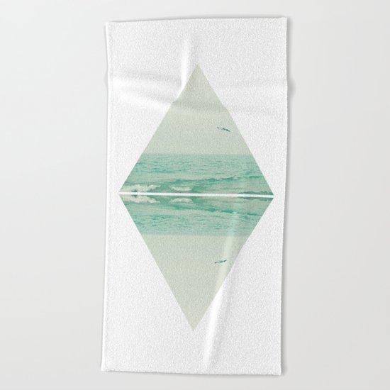 Parallel Waves Beach Towel