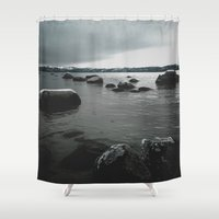 rocks Shower Curtains featuring Rocks by Bizzack Photography