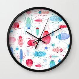 Watercolor Beetles Wall Clock