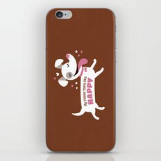 Dog kisses iPhone & iPod Skin