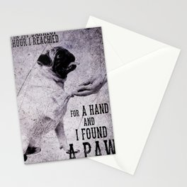 Pug pug hand Stationery Cards