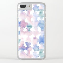 Dye Ovals Pastel Wandering Clear iPhone Case