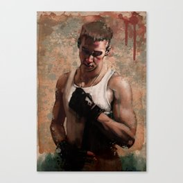 ...and so he fights Canvas Print