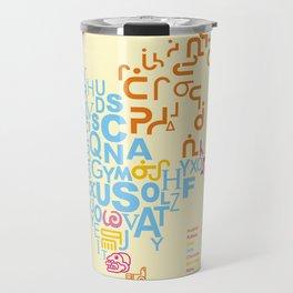 North America ~ Writing Sistems Travel Mug