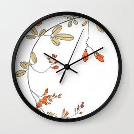 Elegant Pure Heart Spring Flowers Wall Clock