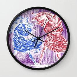 Three Assassins Wall Clock