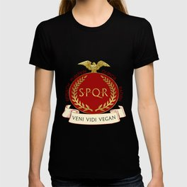 Veni Vidi Vegan Roman Badge T-shirt