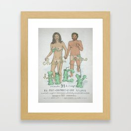 """Good Bye Mr. Summer""/""Adios Sr. Verano"" Framed Art Print"