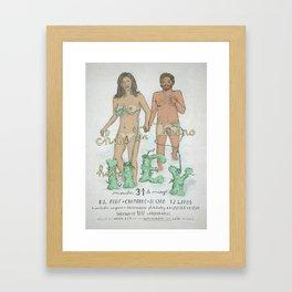 """""""Good Bye Mr. Summer""""/""""Adios Sr. Verano"""" Framed Art Print"""