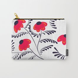 Beauty simple seamless floral pattern swirl Carry-All Pouch