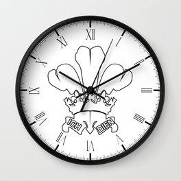 Fleur de Lis Outline Wall Clock