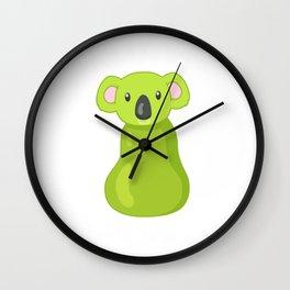 Koala Pear Gift, Koala Bear Lovers Gift, Australian Animal Lovers, Animal Pun Wall Clock