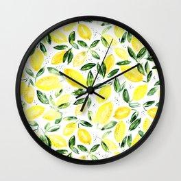 So luscious lemons || watercolor Wall Clock