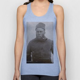 Bearded Ship Captain with Pipe - Vintage Photo Unisex Tank Top