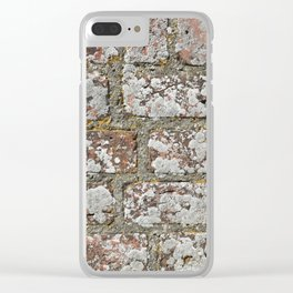 old wall bricks Clear iPhone Case