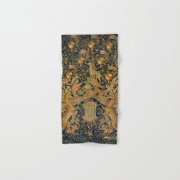 Vintage Golden Deer and Royal Crest Design (1501) Hand & Bath Towel