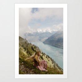 The Hardergrat Swiss Trail Art Print