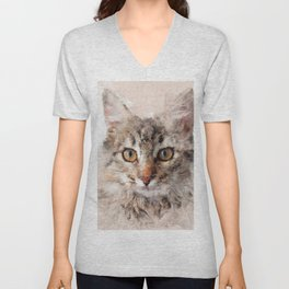 Cat Cinder #cat #kitty Unisex V-Neck