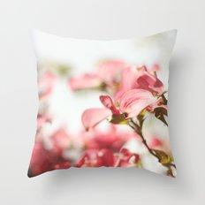 Dogwood Daydreams Throw Pillow