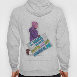 Women's March Pussyhat Girl Protester Hoody