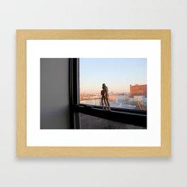 Androids in Bushwick Framed Art Print