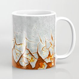 Rust and Grey Coffee Mug