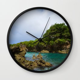 Ague Cove- Guam Wall Clock
