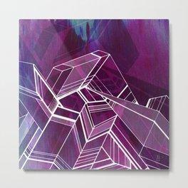 Geo Tactic 2, Violet Metal Print
