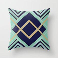 Art Deco Faster Throw Pillow