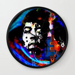 GUITAR MAN:  MUSIC DOESN'T LIE Wall Clock