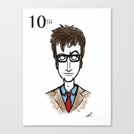 Doctor Who The 10th Doctor  Canvas Print